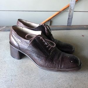 Vintage Joan & David handmade Italian Loafers 41